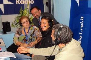 Ruggero Po | Festival di Sanremo 2004, con Megan Gale