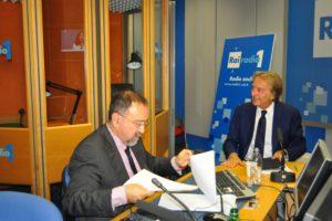 Ruggero Po | Con Luca Cordero di Montezemolo a Radio Anch'Io