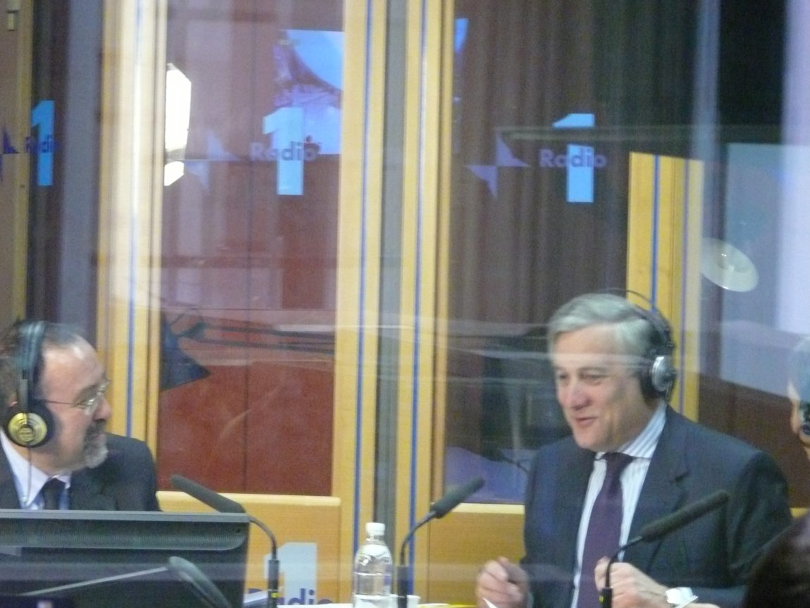 Antonio Tajani a Radio Anch'Io, febbraio 2010