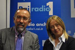 Ruggero Po | Con Giorgia Meloni a Radio Anch'Io