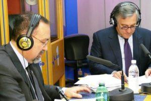 Ruggero Po | Con Antonio Tajani a Radio Anch'Io